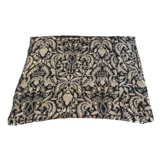 Black & Gold French Silk Damask Throw