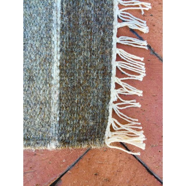 Handwoven Striped Ethnic Wool Rug - 2′3″ × 3′9″ - Image 3 of 5