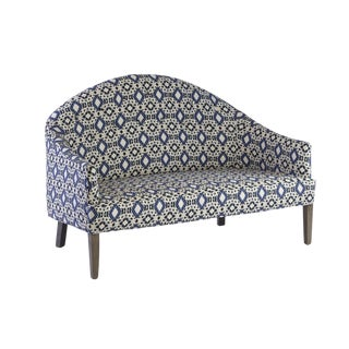 Oomph Savanaah Loveseat in Custom Turquese Fabric