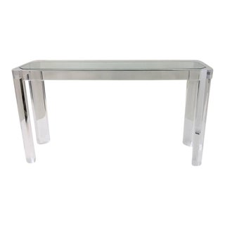 Acrylic and Glass Console Table by Les Prismatiques