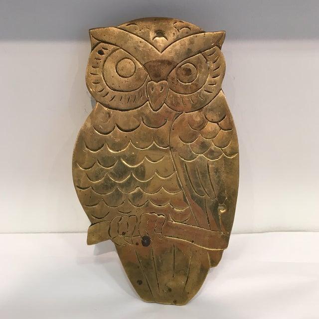 Vintage Brass Owl Trivet - Image 6 of 8