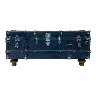 Navy Blue Trunk Coffee Table