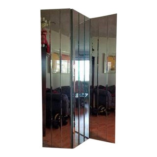 Vintage Tri-Fold Beveled Floor Mirror