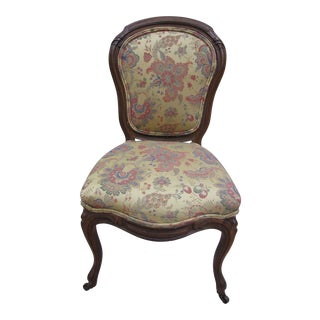 French Tapestry Upholstered Chair