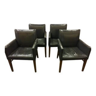 Patent Leatherette Upholstered Side Chair