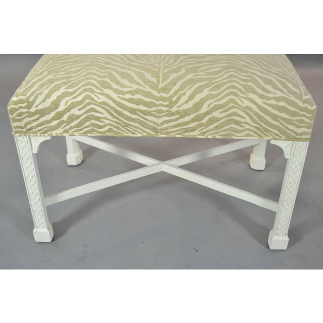 Image of Chinese Chippendale Style Bench