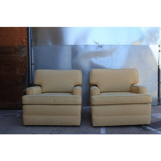 Image of Mid-Century Tweed Chairs - A Pair