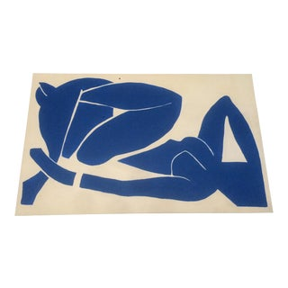 Reclining Blue Nude Painting