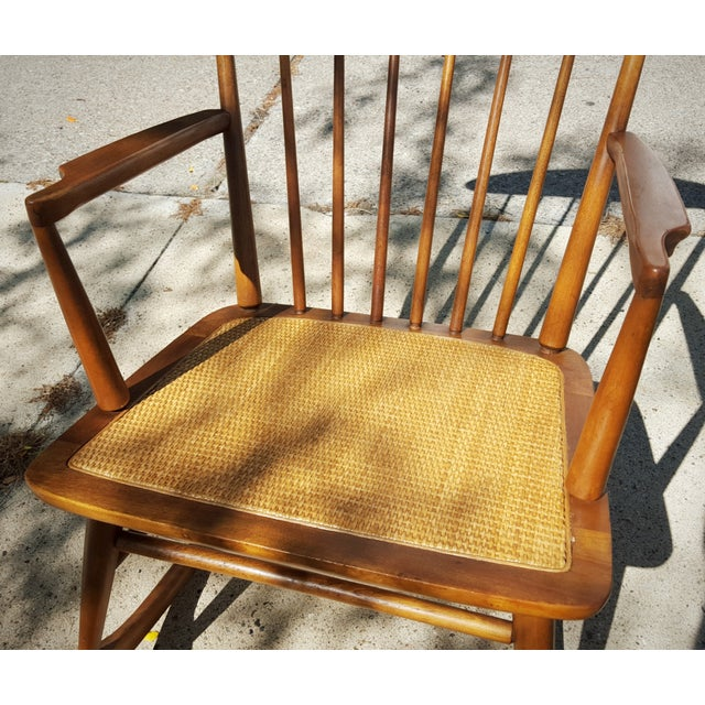 Mid-Century Modern Spindle Rocking Chair - Image 8 of 11