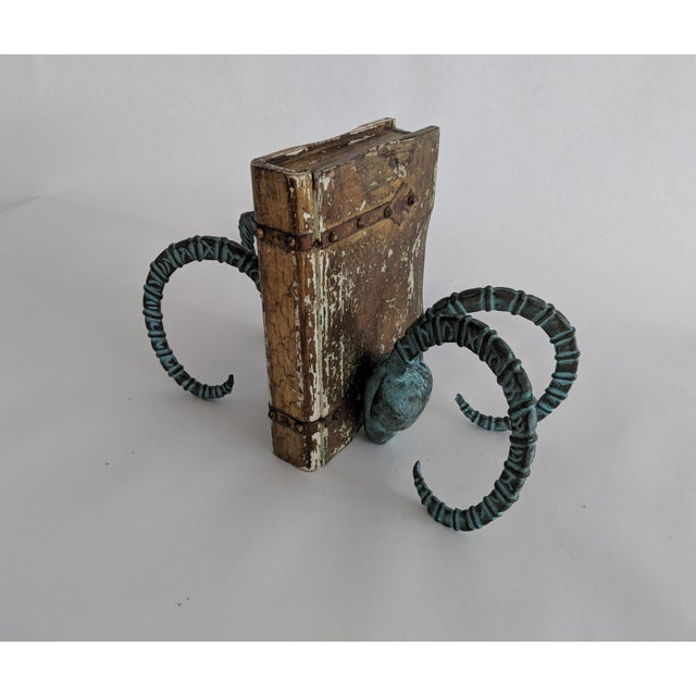 Vintage Brass Ram's Head Bookends - A Pair - Image 2 of 7