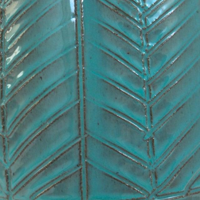 Image of Mid-Century Modern Raymor Turquoise Pottery Lamp