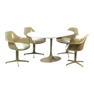 Burke Dining Table and Chairs in the Manner of Eero Saarinen & Charles and Ray Eames