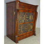 Image of Maitland Smith Leather Faux Book Cabinet