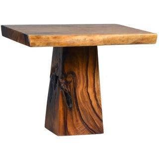 Square Slab Wood Breakfast Table