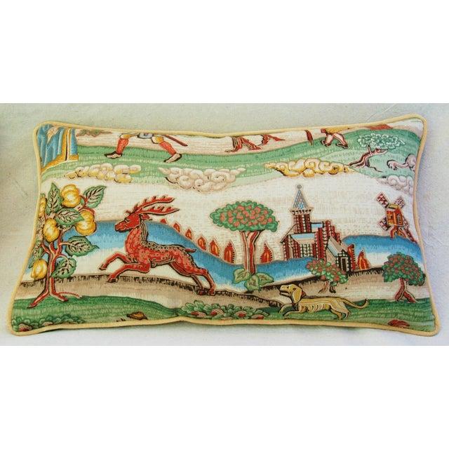 Designer Brunschwig & Fils Medieval Pillows - Pair - Image 7 of 8