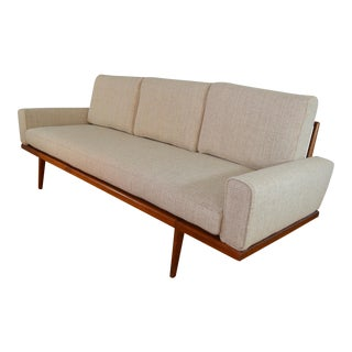 Mel Smilow Mid-Century Walnut Frame Sofa