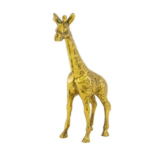 Vintage Mid-Century Brass Giraffe