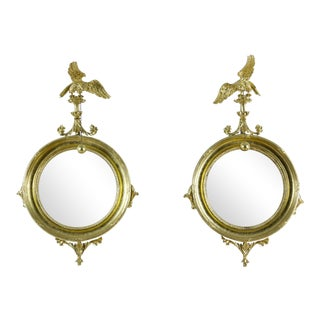 A Pair of Classical Carved Giltwood Girandole Mirrors