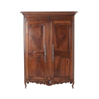 French 19th Century Carved Walnut Armoire