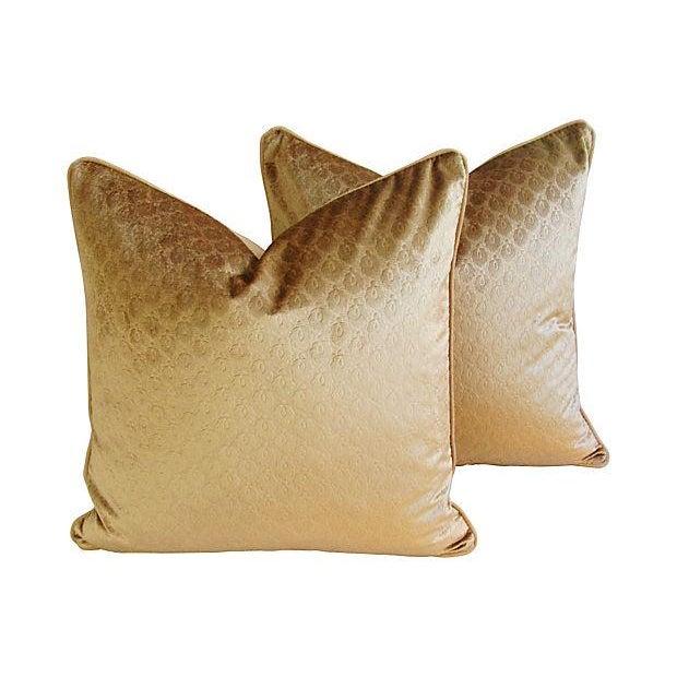 Custom French Pierre Frey Velvet Pillows - A Pair - Image 1 of 7