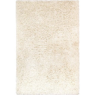 Pasargad Ivory Shaggy Rug - 5′ × 8′