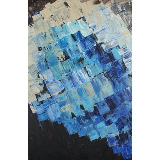 Blue Geometric Abstract Painting