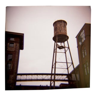 """Water Tower"" Vintage Toy Camera Image"