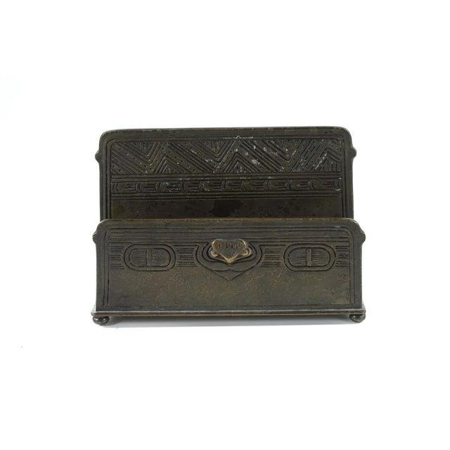 Tiffany Studio New York- Bronze Desk Letter Holder - Image 2 of 9