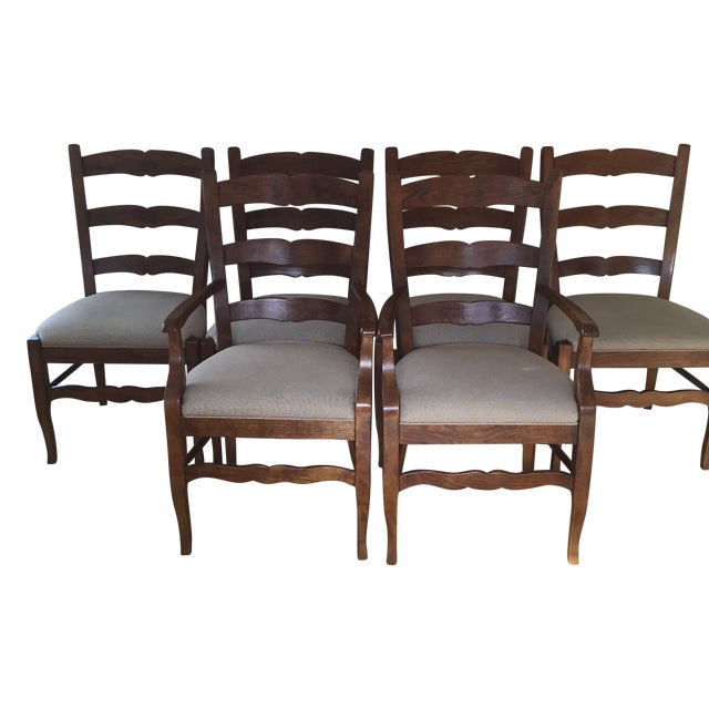Henredon Ladder Back Dining Chairs - Set of 6 - Image 1 of 5
