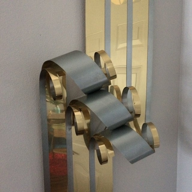 Mid-Century Two Tone Metal Ribbon Sculpture - Image 3 of 9