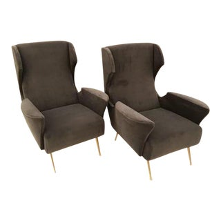 Pair of Mid Century Club Chairs in the style of ISA