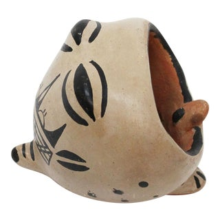 Native American Pottery Frog Dish