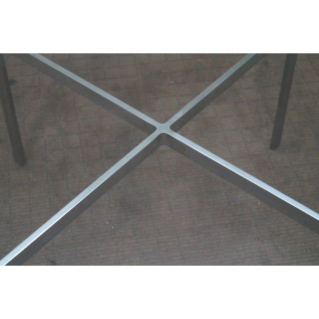 Image of Mid-Century Chrome X-Base Glass Top Coffee Table