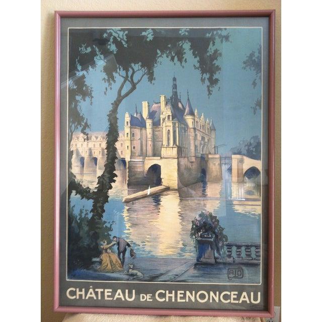 Image of Chateau De Chenon, Original Vintage Travel Poster