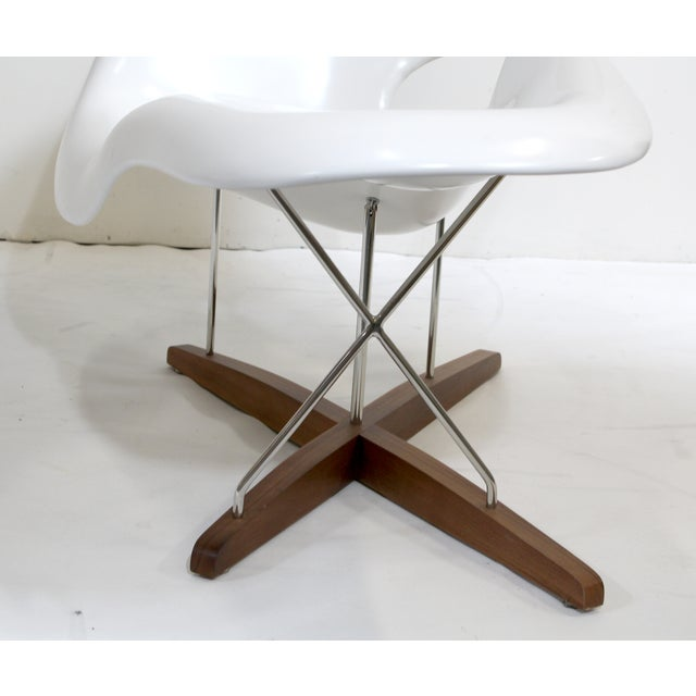 eames vitra white la chaise chair chairish. Black Bedroom Furniture Sets. Home Design Ideas