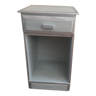 Silver-Gray Two-Tone Nightstand