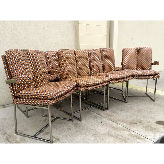 Milo Baughman ForThayer Coggin Chairs - Set of 8 - Image 4 of 11