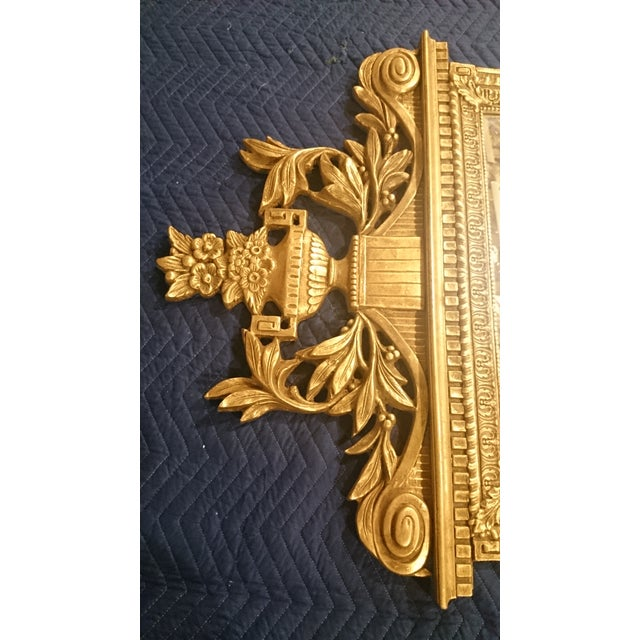 French Neoclassical Style Gold Leaf Finished Wall Mirror - Image 7 of 7