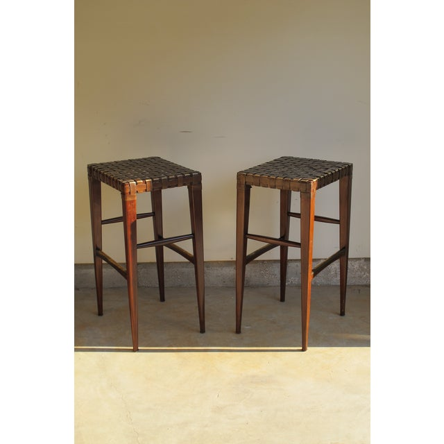 Artistica Milo Backless Barstools -- A Pair - Image 6 of 10
