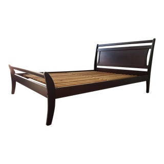 Black & Cherry Queen Bed Frame