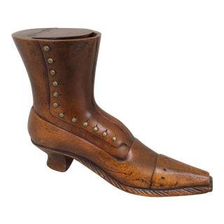 Wooden Shoe Snuff Box