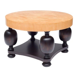 Round Birch Root and Beechwood Coffee Table, Sweden, 1940s