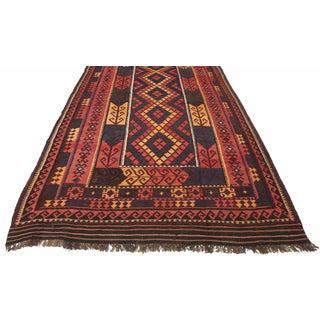 RugsinDallas Vintage Oversize Wool Afghan Kilim - 7′10″ × 14′6″