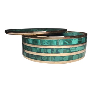 Round Malachite Jewelry Box