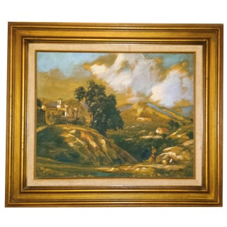 Italian Hillside Villa Oil Painting by Gigante