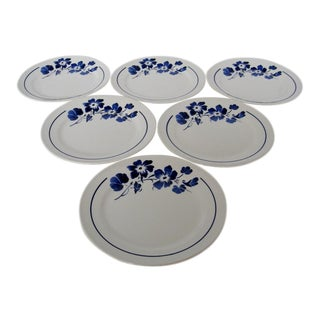 French Stoneware Salad Plates - Set of 6