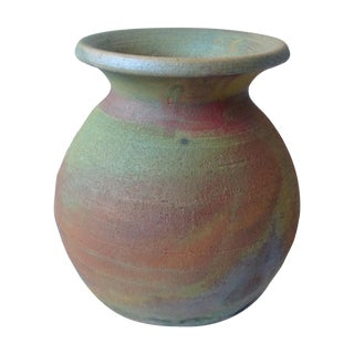 Earth Tone Raku Pottery Vase
