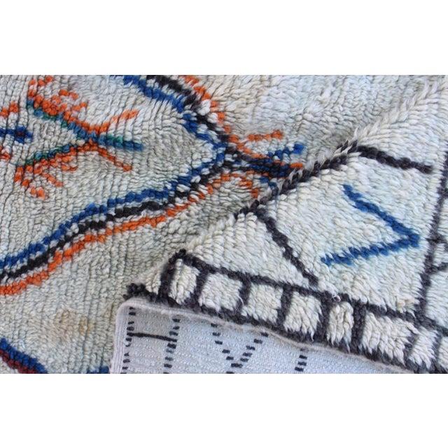 Image of Vintage Azilal Moroccan Berber Rug- 4′4″ × 8′2″