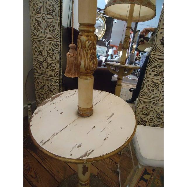 Vintage Carved Wood Standing Lamp - Image 3 of 4