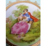 Image of Victorian Couple Detailed Porcelain Plate